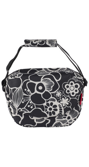 KlickFix Funbag - Sac porte-bagages - fleur blanc/noir